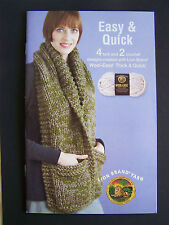 Knit & Crochet Book 6 patterns Easy & Quick NEW