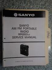 Sanyo RP 6850 US service manual original repair book am/fm radio receiver