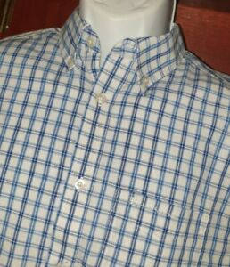 Ben Sherman, White and Blue check, Long Sleeve Shirt size M