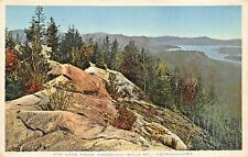 ADIRONDACKS NY~4th LAKE FROM HOGSBACK-BALD MT~1916 POLY-CHROME POSTCARD