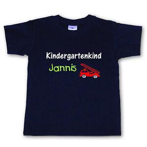 T-Shirt - Kindergartenkind + Wunschname - Wahl: MOTIV, Farbe, Größe - ab 86/92