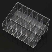 24 Makeup Lipstick Cosmetic Storage Display Rack Holder Organiser Stand Useful·