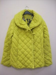 Per Una Large Size 16 Pale Lime Water Repellent Puffed Quilted Jacket