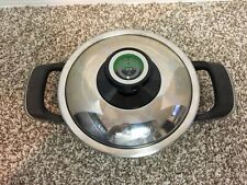 """AMC Visiotherm Stainless Cookware Small Pan, 7.5"""" X 2.5"""", With Lid. Heavy Base"""