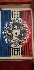 Shepard Fairey signed Liberté Egalité Fraternité Obey
