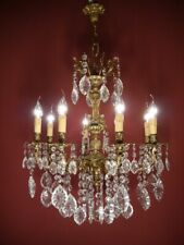 cherubs chandelier brass special crystal ceiling lamp 8 light chandeliers