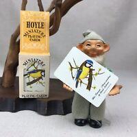 HOYLE Vintage Miniature Playing Cards Blue Titmouse Bird