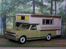 1969 69 CHEVY C-10 TRUCK CAMPER COLLECTIBLE MODEL - 1/64 SCALE DIORAMA