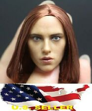 IN STOCK Black Widow 1/6 Scarlett Johansson Head short brown for phicen ❶USA❶