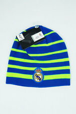 Real Madrid FC Soccer BEANIE Sports Cap Knit Hat Blue Neon New