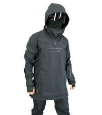 Mountride Anorak Mens Womens Softshell Ski Snowboard Jacket New Black Waterproof
