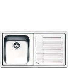 LAVELLO SMEG LP861D-2 86cm 1 VASCA SINISTRA ACCIAIO INOX SPAZZOLATO BORDO 4 mm
