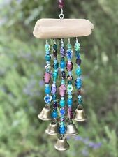 New listing Driftwood blue/green/purple chime/mobile/sun-catcher made in the Usa Ships Free!