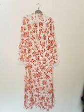 Vintage Floral Dressing Gown Pink  New Genuine 1970's Size WX Full Length NEW