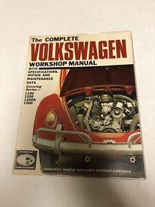 Rare 1968 Complete Volkswagen Workshop Manual 1st