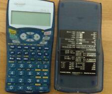 Sharp EL-531W Advanced DAL Scientific Calculator-Transparent Blue with Cover