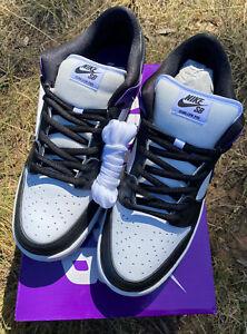 Nike SB Dunk Low Pro Court Purple Black White Skateboard Shoes Jordan Size US13