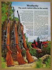 1977 Weatherby Mark V Magnum Vanguard & XXII Rifles color photo vintage print Ad