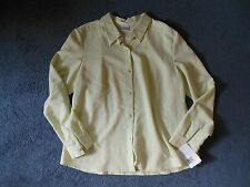 NWT Liz Villager So Easy Womans 14 Large Light Green Button Blouse Shirt L/S