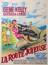 GENE KELLY LA ROUTE JOYEUSE( THE HAPPY ROAD ) with VESPA ACMA