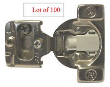"100 Soft Close 1/2"" Overlay 3 Way Adjustment Face Frame Nickel Cabinet Hinges"
