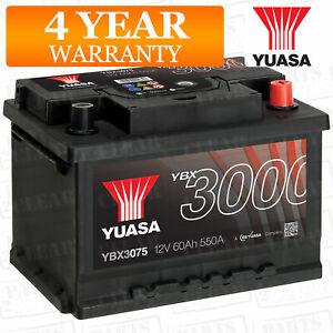 Yuasa PREMIUM 12v Car Battery - EB602 TYPE 075 027 065 YBX3075