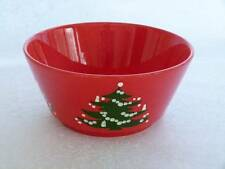 WAECHTERSBACH Germany Red Christmas Tree LARGE Round Serving Bowl