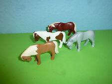 4x Ponys Pferde zu 4190 5221 Bauernhof Reiterhof Playmobil 063