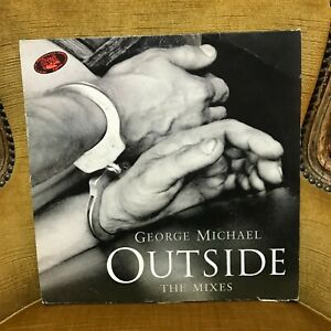 """33 Tours 12"""" George Michael – Outside (The Mixes) Label: Epic – 666249"""
