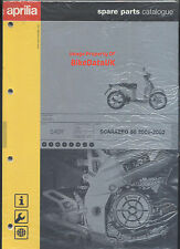 Aprilia Scarabeo 50 Moped (00-02) Genuine Parts List Catalogue Manual Book BV02