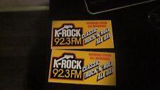 HOWARD STERN K-ROCK 92.3 NEW YORK 7.5 BUMPER STICKER hs27