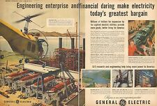 1952  AD General Electric Art Helicopter over Pacific Gas& Electric Plant 103016
