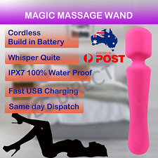 Magic Vibrate Wand Massage Cordless Super Powerful WaterProof Rechargeable