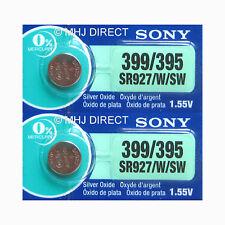2 x Genuine SONY 399 SR927W SR57 Watch Batteries Silver Oxide 0% Mercury