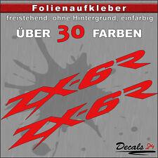 2er SET - ZX-6R Sponsoren-Folienaufkleber Auto/Motorrad - 30 Farben - 12cm
