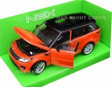 RANGE ROVER SPORT 1:24 Scale Diecast Model Toy Car Miniature ORANGE