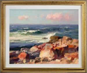 """Hand-painted Original Oil painting art impression Sea view On Canvas 20""""x24"""""""