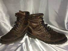 """TIMBERLAND EARTHKEEPERS BROWN LEATHER 6"""" LACE UP ANKLE BOOTS #15551 MEN'S 11 M"""