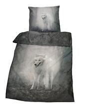 2 tlg. Bettwäsche Microfaser  Twilight Wolf Kissen + Bezug 135x200 cm