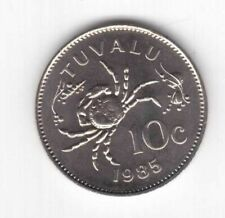 TUVALU – 10 CENTS UNC COIN 1985 YEAR KM#4 CRAB