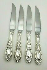 Set of 4 King Richard by Towle Sterling Serrated Steak Knives Custom Made