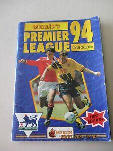 Merlin Premier League 94 1994 Incomplete Album 450/479 94% Complete 1st Edition