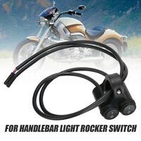 "7/8"" Aluminum Handlebar Switch Dual Light Rocker Waterproof For Motorcycle CRIT"