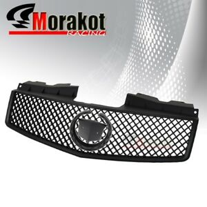 Cadillac CTS 03-07 Crossweave Jdm ABS Front Bumper Hood Grille Grill Black