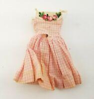 Vintage Mattel Barbie Skipper #1913 Me N My Doll Pink Gingham Sun Dress