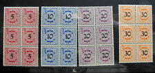 GERMANY WURTTEMBERG LOCALS BLOCK OF 6 MINT NH