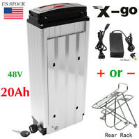 Rear Rack Carrier Lithium E-bike Battery 48V 20Ah 1500W for Electric Bicycle US