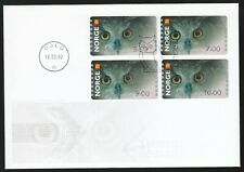 Norway 2002 Fdc Atm Owls - Set Of 4