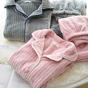 HOT Ladies Homewear Lovers Pyjamas Flannel Top Pants Set Men Sleepwear Sets