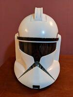 Star Wars Clone Storm Trooper Talking Voice  Helmet Hasbro 2008 WORKS GREAT